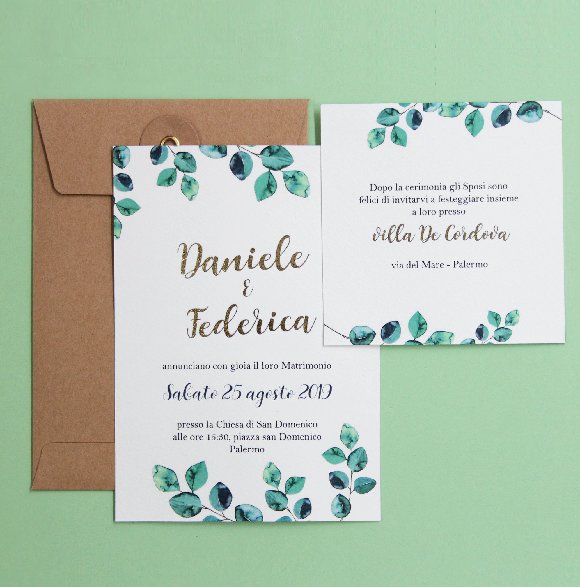 Partecipazioni Matrimonio Palermo.Partecipazioni Di Nozze Block Design