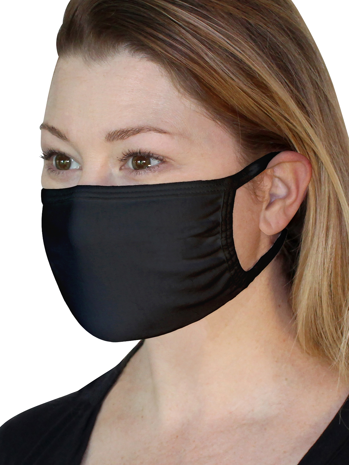 Fruit Mask Black Product Lady Side