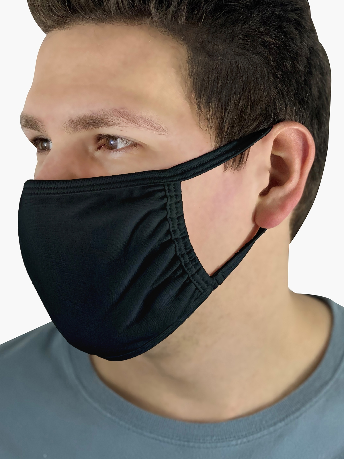 Fruit Mask Black Product Man Side