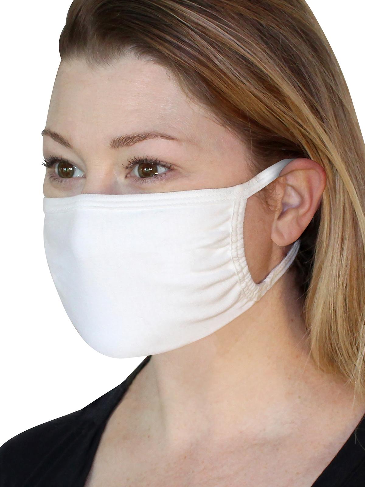 Fruit Mask White Product Lady Side