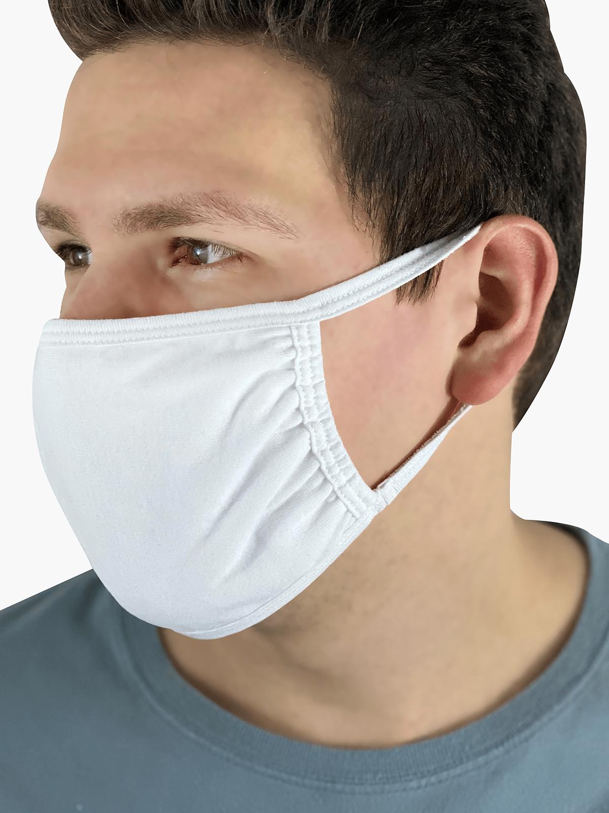 Fruit Mask White Product Man Side